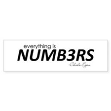 NUMB3RS Bumper Sticker