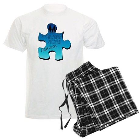 Autism Go Blue Men's Light Pajamas
