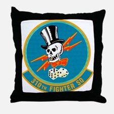 310th Fighter Squadron Throw Pillow