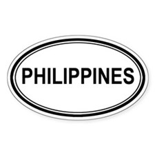 Philippines Euro Oval Decal
