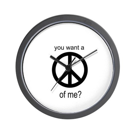 Peace by Piece Wall Clock