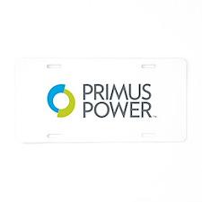 Primus Power Aluminum License Plate