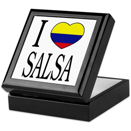 "Colombian ""I Love Salsa"" Keepsake Box"
