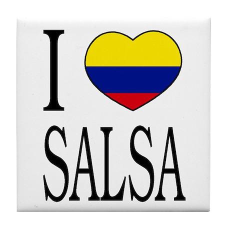 "Colombian ""I Love Salsa"" Tile Coaster"