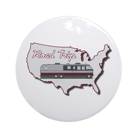 Classic Airstream Motor Home Ornament (Round)