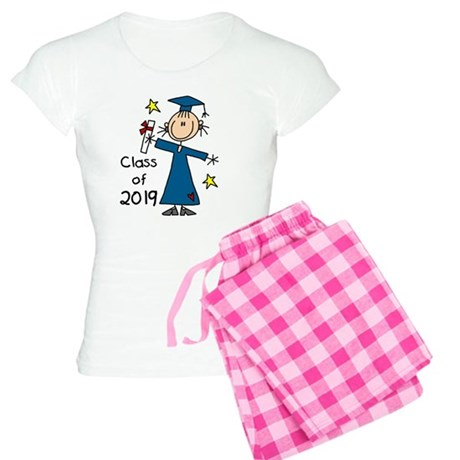 Stick Figure Girl Grad 2014 Women's Light Pajamas