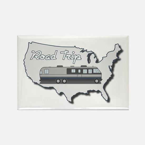 Classic Airstream Motor Home Rectangle Magnet
