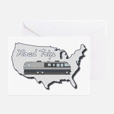 Classic Airstream Motor Home Greeting Cards (Pk of