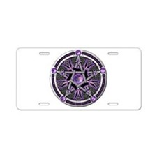 Pentacle of the Purple Moon Aluminum License Plate