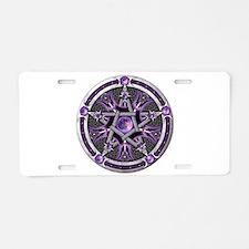 Pentacle of the Purple Moon Aluminum License Plate