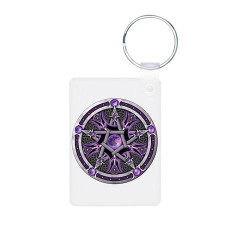 Pentacle of the Purple Moon Aluminum Photo Keychai