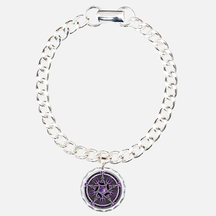 Pentacle of the Purple Moon Bracelet