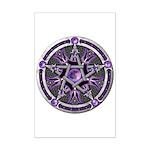 Pentacle of the Purple Moon Mini Poster Print