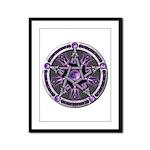 Pentacle of the Purple Moon Framed Panel Print