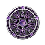 """Pentacle of the Purple Moon 3.5"""" Button (100"""