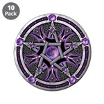 """Pentacle of the Purple Moon 3.5"""" Button (10 p"""