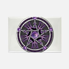 Pentacle of the Purple Moon Rectangle Magnet