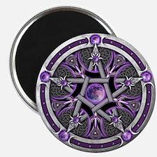 "Pentacle of the Purple Moon 2.25"" Magnet (10"