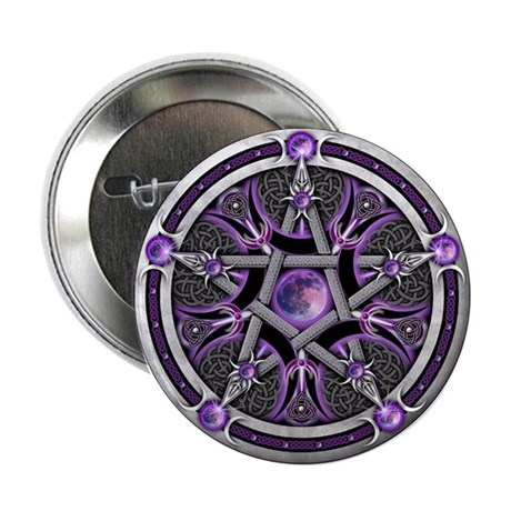 "Pentacle of the Purple Moon 2.25"" Button"