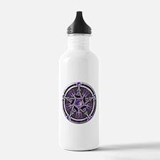 Pentacle of the Purple Moon Water Bottle