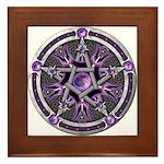 Pentacle of the Purple Moon Framed Tile