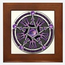 Pentacle of the Purple Moon Framed Tile