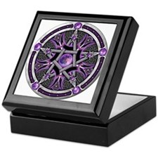Pentacle of the Purple Moon Keepsake Box