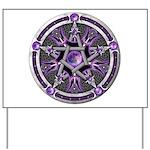 Pentacle of the Purple Moon Yard Sign