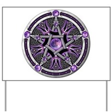 Pentacle of the Purple Moon Yard Sign