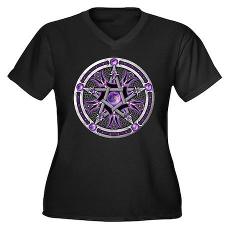 Pentacle of the Purple Moon Women's Plus Size V-Ne