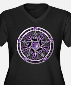 Pentacle of the Purple Moon Women's Plus Size V-Ne