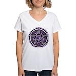 Pentacle of the Purple Moon Women's V-Neck T-Shirt