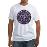 Pentacle of the Purple Moon Fitted T-Shirt
