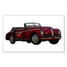 Large Convertible Classic Car Decal