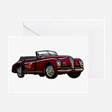 Large Convertible Classic Car Greeting Card