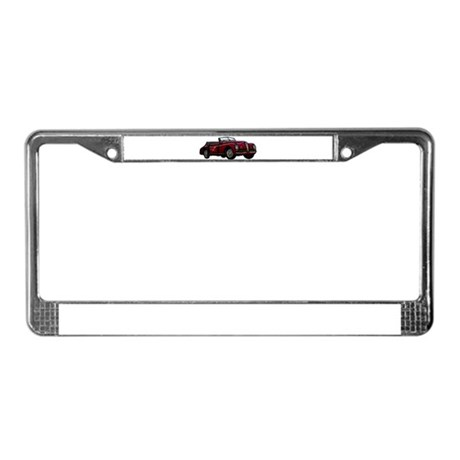 Large Convertible Classic Car License Plate Frame