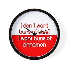Cinnamon Buns Wall Clock