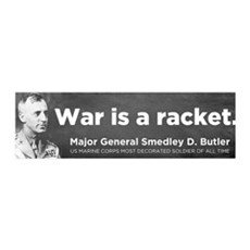 War Is A Racket 42x14 Wall Peel