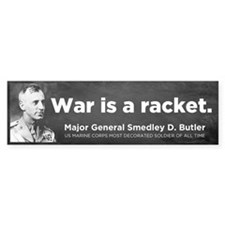 War Is A Racket Car Sticker