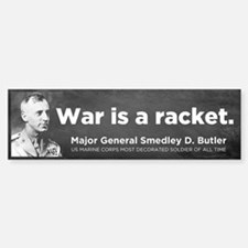 War Is A Racket Sticker (Bumper)