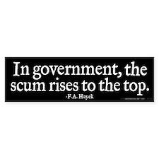 Hayek Government Quote Bumper Sticker