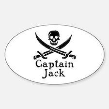 Captain Jack Sticker (Oval)