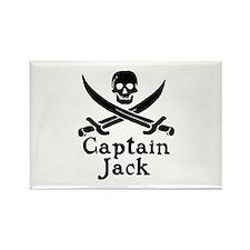 Captain Jack Rectangle Magnet