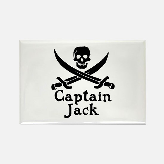 Captain Jack Rectangle Magnet