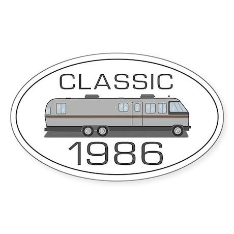 Classic Airstream Motor Home Sticker (Oval)