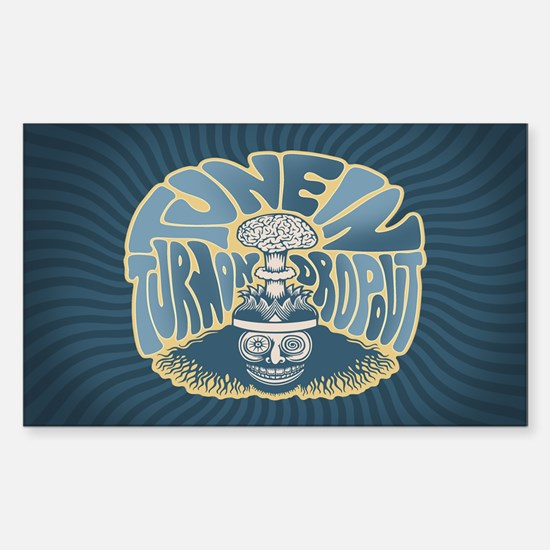 Tune In, Turn On, Drop Out Sticker (Rectangle)