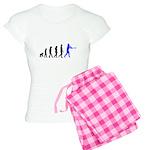 Baseball Evolution Blue Women's Light Pajamas