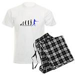 Baseball Evolution Blue Men's Light Pajamas