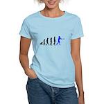 Baseball Evolution Blue Women's Light T-Shirt