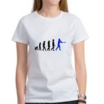 Baseball Evolution Blue Women's T-Shirt